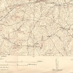 1915 Topo Map Of Fairfax County Virginia